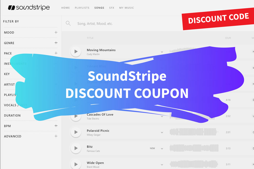 Soundstripe discount coupon code